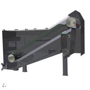 Fijnfilter (TurboScreen) doorsnede